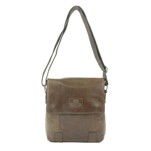 Leather Cross Body Bag Front View