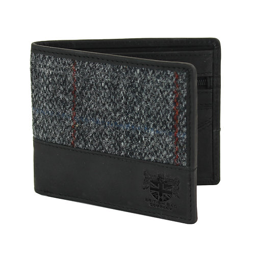 Berneray Harris Tweed Wallet Front View