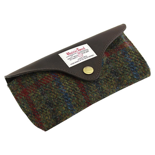 Breanais Harris Tweed Glasses Case Front View