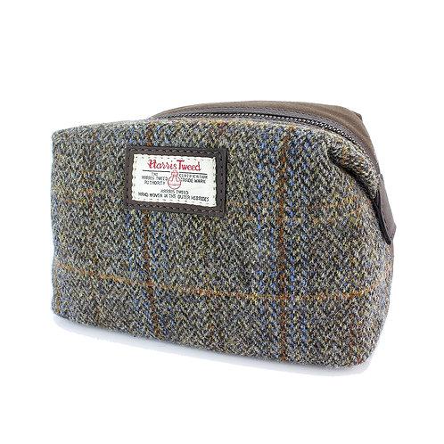 Carloway Harris Tweed Ladies Cosmetic Bag Front View