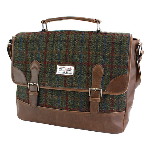 Breanais Harris Tweed PU Briefcase Front View