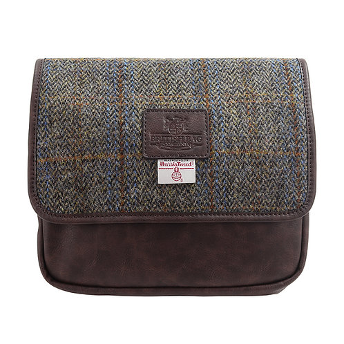 Carloway Harris Tweed PU Hanging Washbag