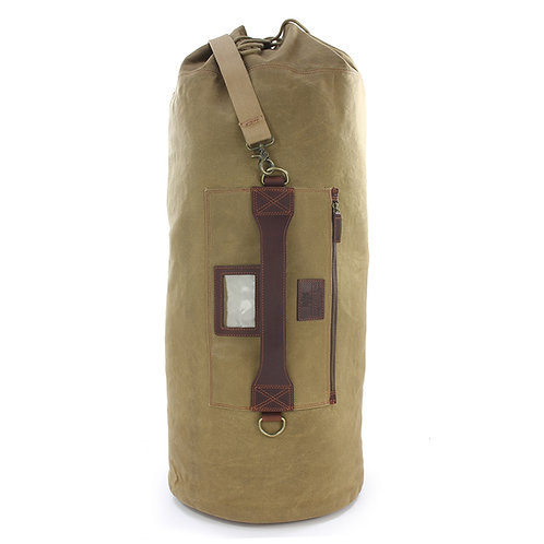 Waxed Canvas Marine Kit Bag Front View