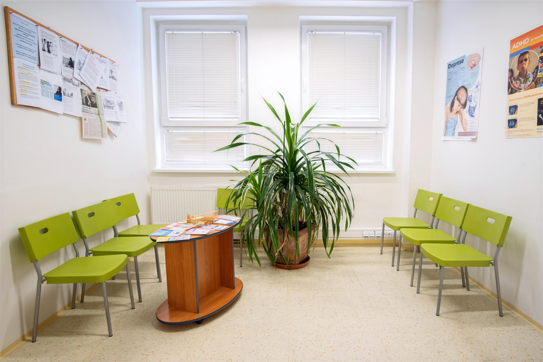 Čekárna ordinace Soukromé ambulance dětské a dorostové psychiatrie