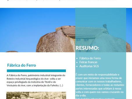 FANFINHOS. Nasceu a nossa newsletter interna