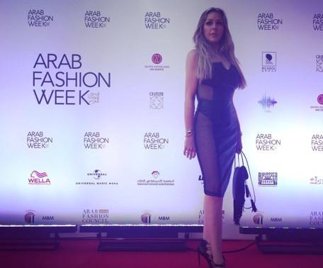 Andrea Soukalova na Arab Fashion Week no Dubai em Abril 2017