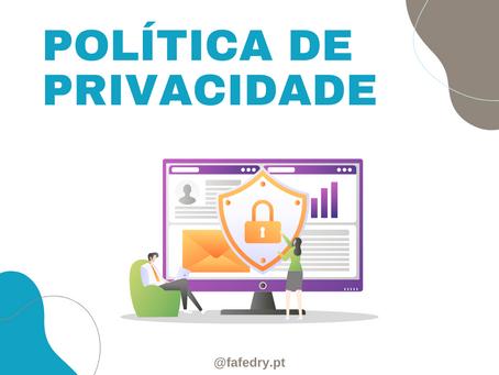 Revisão de Política de Privacidade