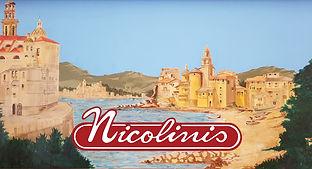 Nicolinis Restaurant logo and mural