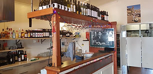 Nicolinis bar and cafe section with gelato bar