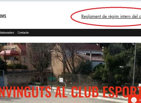El club posa a disposició el reglament de règim intern