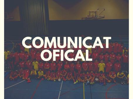 Comunicat oficial de la federació catalana respecte el COVID-19