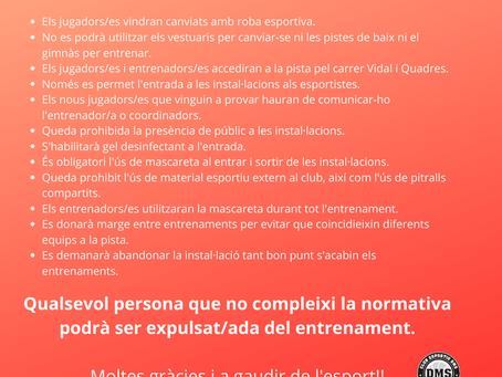 Mesures sanitàries Covid-19
