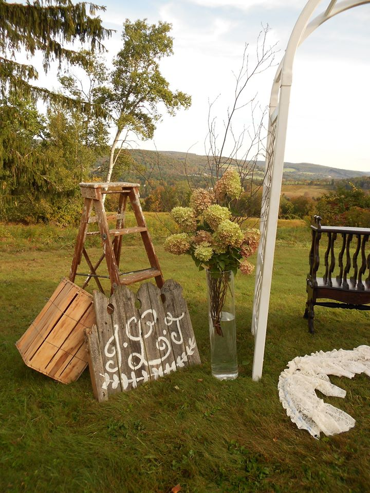 Alter props and floral arangements
