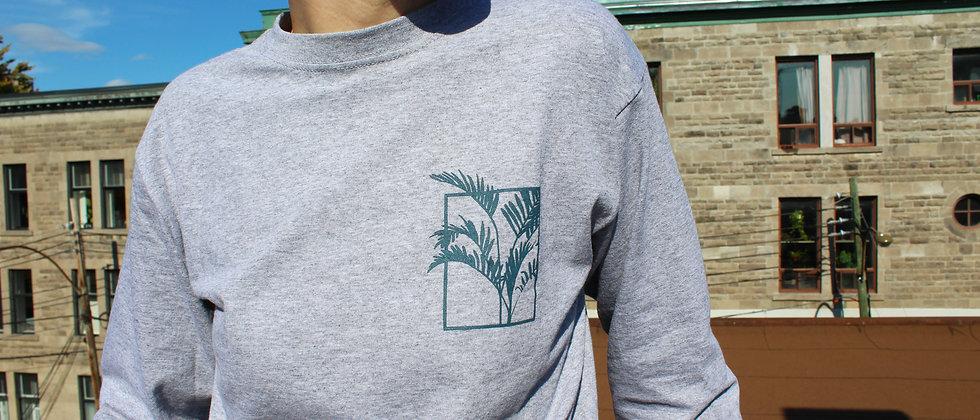 life with plants - screen printed long sleeve shirt