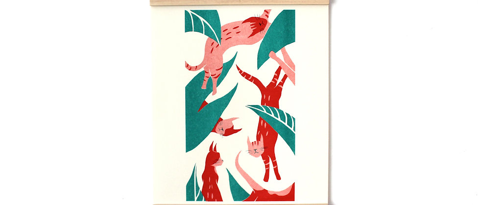 little tigers riso art print