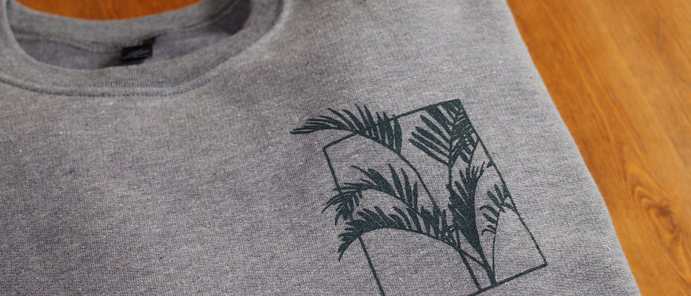 life with plants - screen printed crewneck sweater