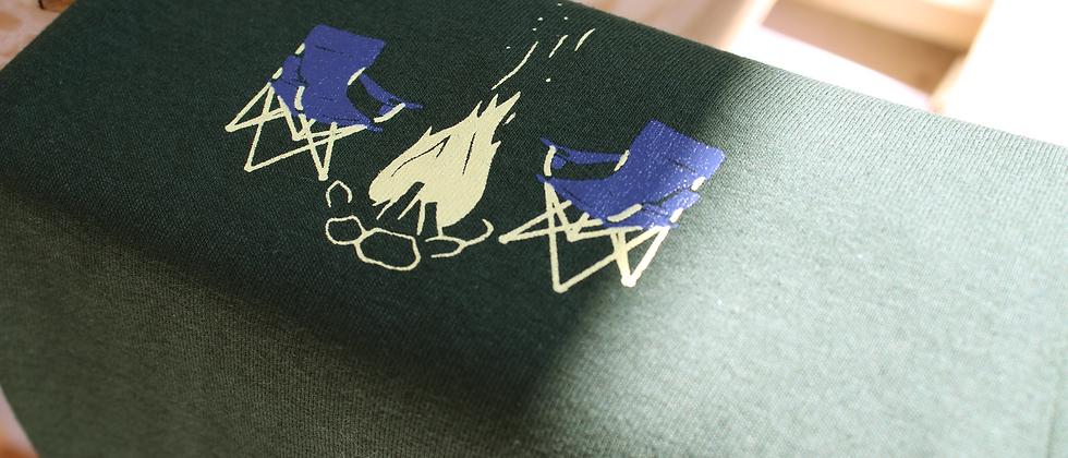camping - screen printed long sleeve shirt