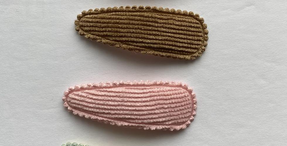 Corduroy Fabric Hair Clip