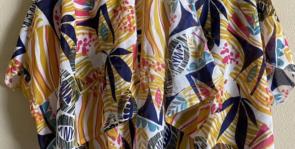 90s Style Bright Hip Length Kimono