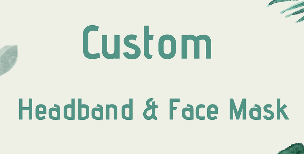 Custom Headband & Face Mask