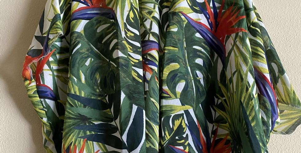 Leaves Hip Length Kimono