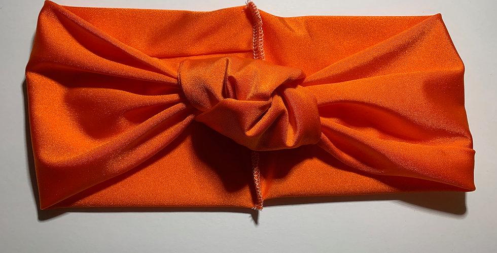 Orange Active Knotted Headband