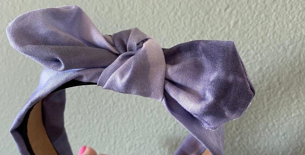 Blue Tie Dyed Bow Headband