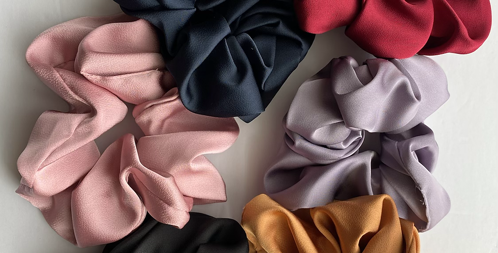 Silky Jumbo Scrunchies