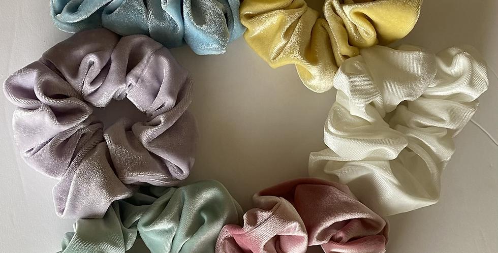 Pastel velvet Scrunchies