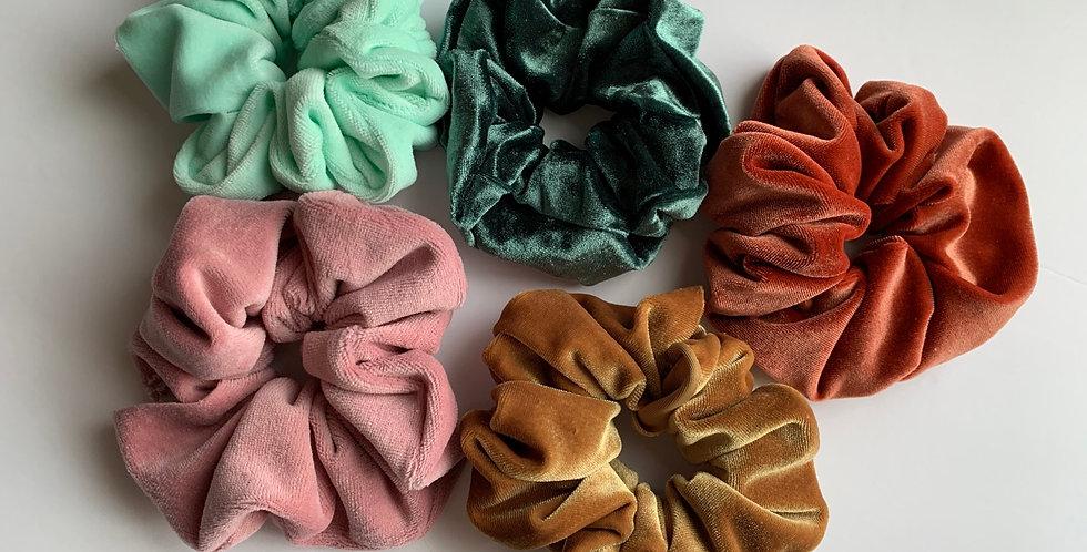 Spring Velvet Scrunchie