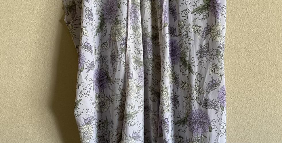 Lilac Floral Knee Length Kimono