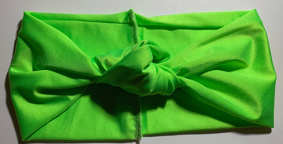 Lime Green Active Knotted Headband
