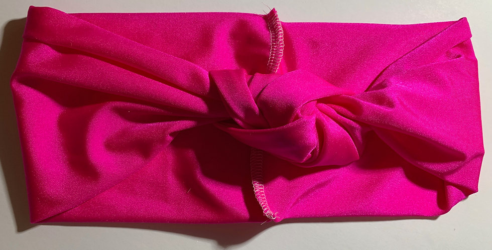 Hot Pink Active Knotted Headband