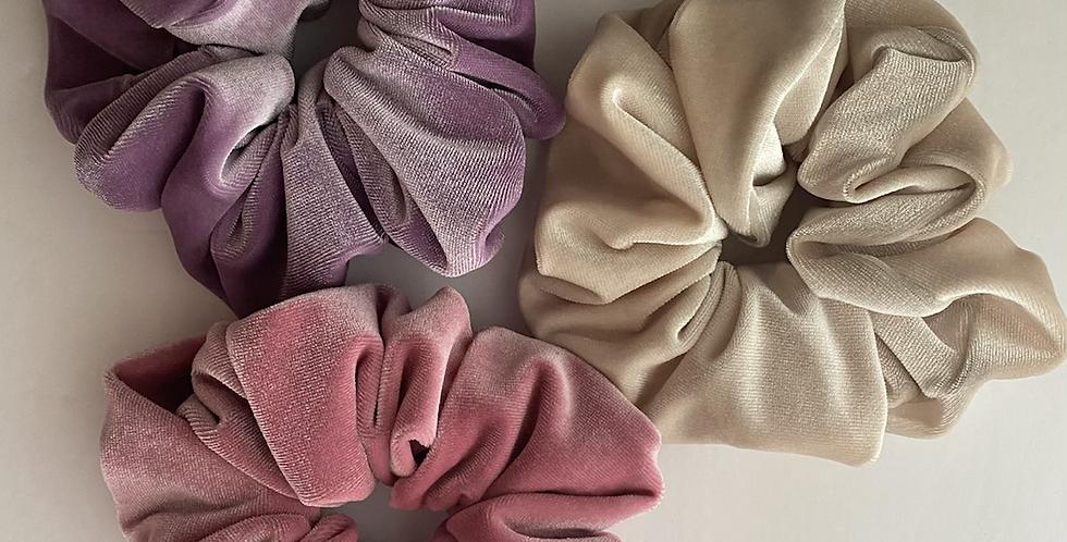 Pastel Velvet Scrunchie