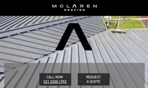 McLaren Roofing website development