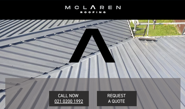 McLaren Roofing website development