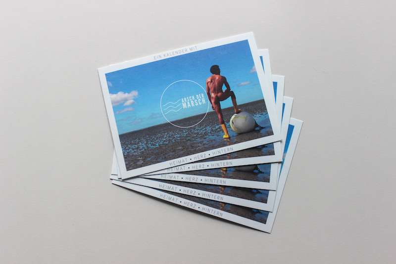 Arsch der Marsch Postkarten 5er-Pack