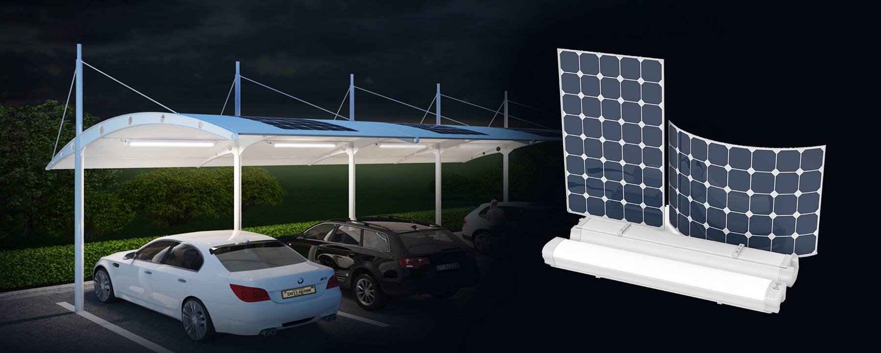 Truelite Solar  Carport  LED Light