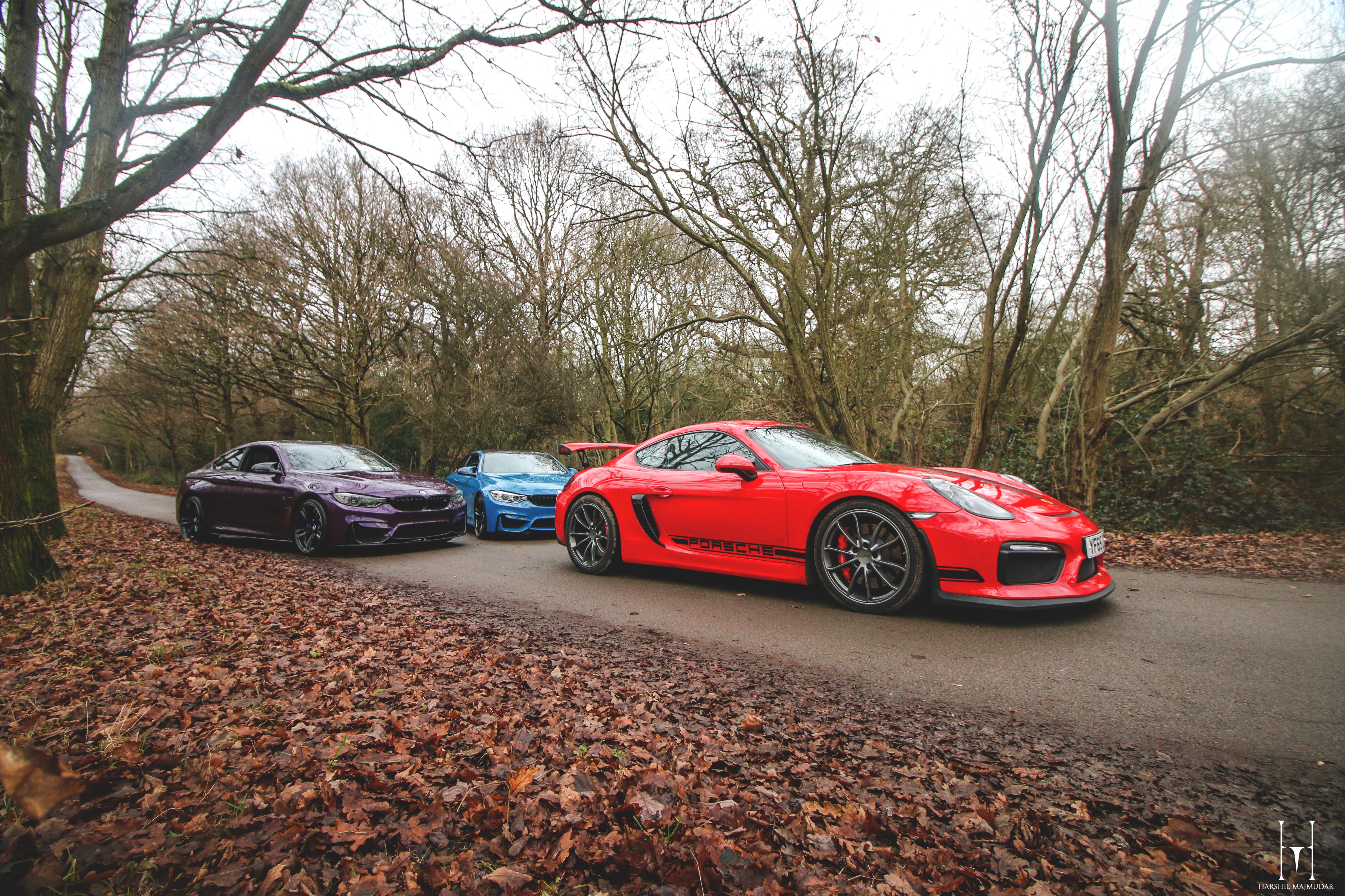 Porsche GT4 & BMW M4's