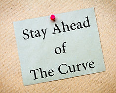Stay Ahead of the Curve Message. Recycle