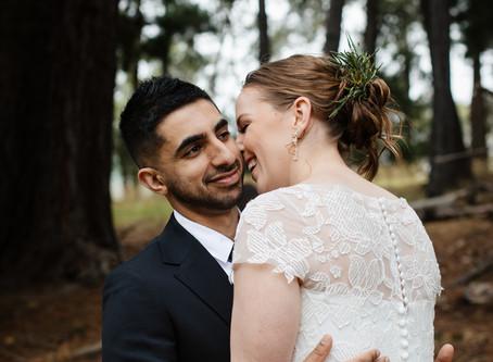 Britt and Moh's Intimate DIY Backyard Wedding in Lilydale, Victoria