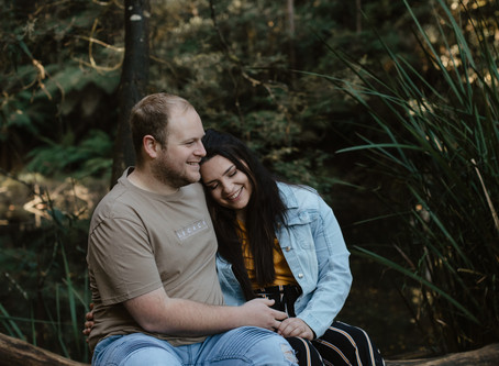 Adriarna and Sam's Sunrise Engagement Session at RJ Hamer