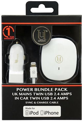 Uunique In Car Charger Twin USB 2.4 Amps, UK Mains Charger Twin USB 2.4 Amps, Sy