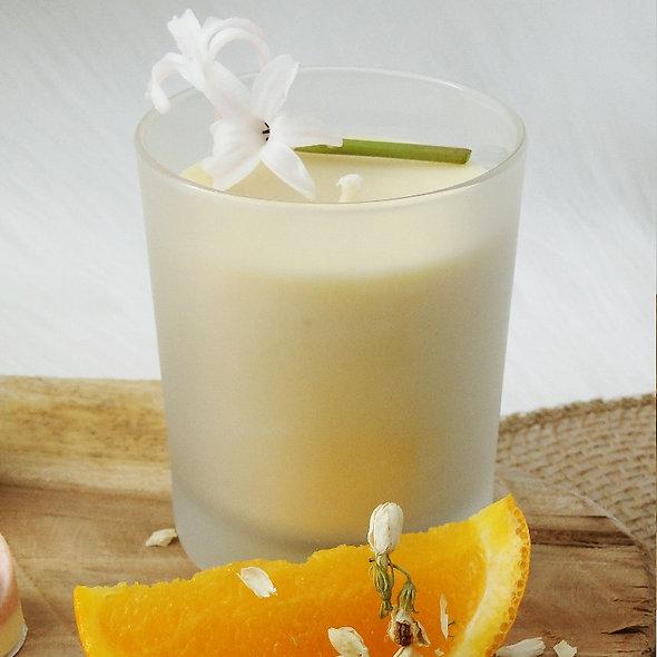 Bougie Bien-être 100% Naturelle Senteur Fleur d'oranger