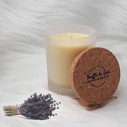 Bougie naturelle parfumée - Bouquet de lavandes