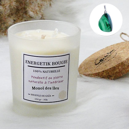 Bougie naturelle parfumée - 𝐌𝐨𝐧𝐨𝐢̈ 𝐝𝐞𝐬 𝐢̂𝐥𝐞𝐬 - Pendentif