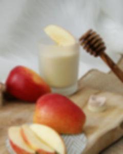 Pomme Croquante bougie naturelle souffle