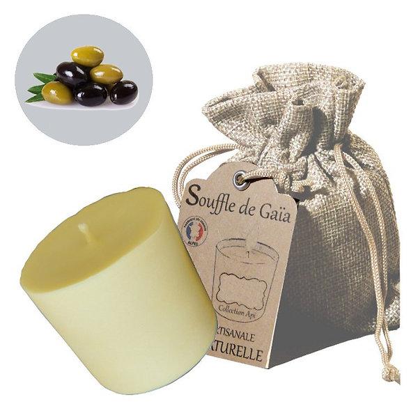 Recharge de bougie énergétique Api en cire d'abeille à l'huile d'olive - énergie