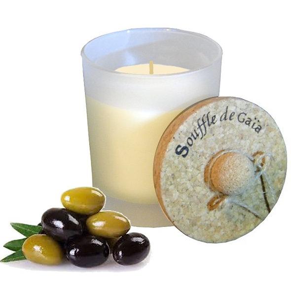 Bougie énergétique Api en cire d'abeille à l'huile d'olive - Energie