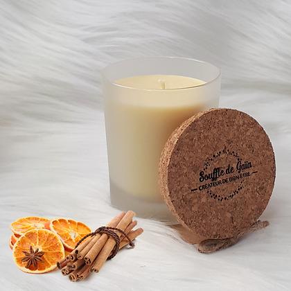 Bougie naturelle parfumée - Cannelle / orange